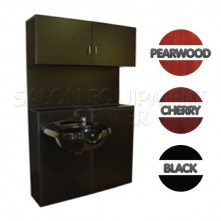 Black Deluxe Shampoo Cabinet Without Bowl