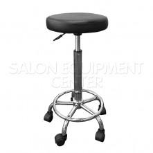 Black Seat Salon Technician Stool