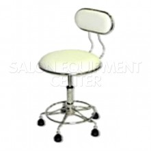 White Salon Tech Stool