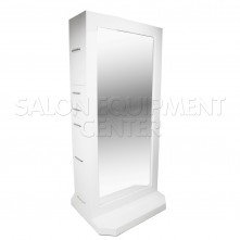 Alpha Modern Double Sided Styling Station WHITE