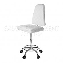 Deluxe White All Purpose Salon Stool