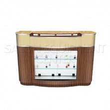 Nishi Reception Desk With Display Front