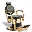 bar-132 McKinley Barber Chair (Black Cushion, Gold Frame) (1)